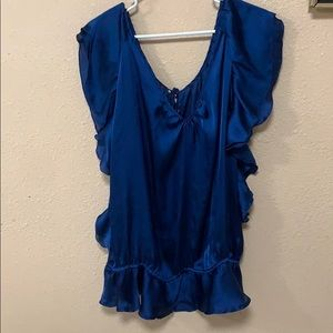 Beverly Drive Blue Blouse